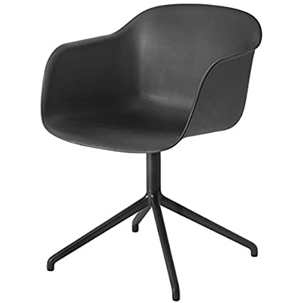 Muuto Fiber Armchair - Swivel Base - Black
