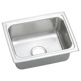 Elkay DLFR251912 Gourmet Lustertone Sink, Stainless Steel