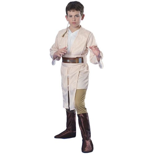 Rubies Costume Co 18790 Star Wars Obi-Wan Deluxe Child Costume Size Small- Boys 4-6