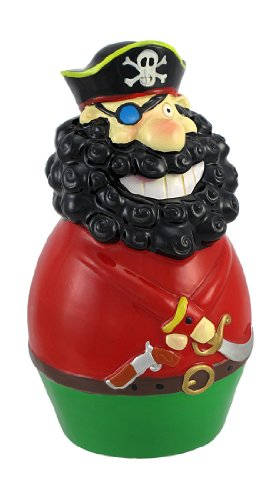 Whimsical Blackbeard Pirate Captain Coin Bank