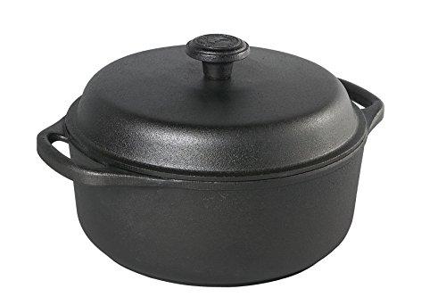 Cocotte en fonte ronde 24 cm - 4 litres - couvercle fonte