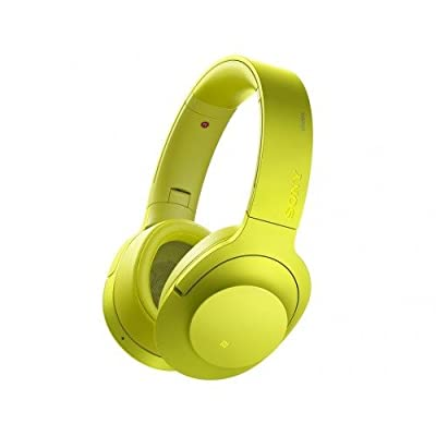 SONY wireless noise canceling stereo headset MDR-100ABN / Y (lime yellow)