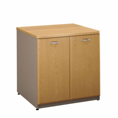 Bush Furniture Series A Light Oak 30-Inch Storage Cabinet