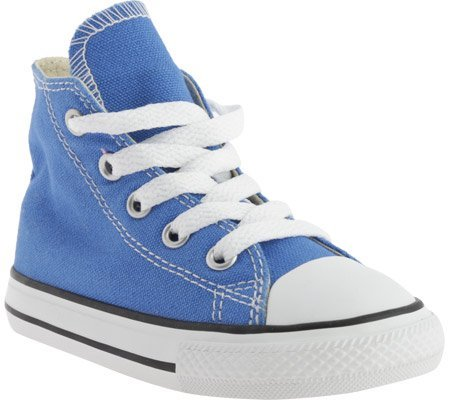 Converse Unisex Baby Chuck Taylor All Star Seasonal Hi (Inf/Tod) - Light Sapphire - 4 Infant (Girls Light Blue Converse compare prices)