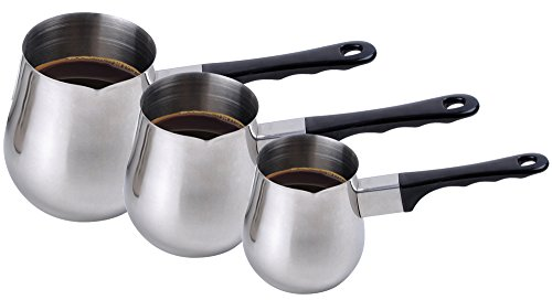 3 Piece Stainless Steel Coffee Warmer Set (Alpine Cuisine Espresso compare prices)
