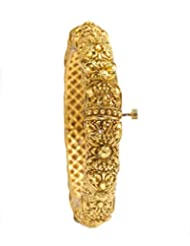 Nainika's Fashion Jewellers Golden Metal Cuff & Kadaa For Women