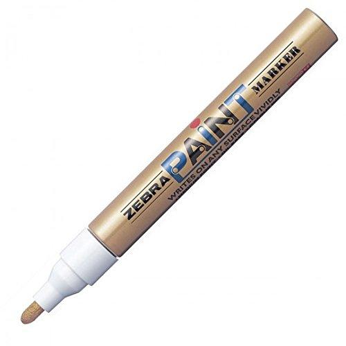 Zebra MOP-200MZ 1.5mm Free Ink System Oil-based Paint Marker - Gold