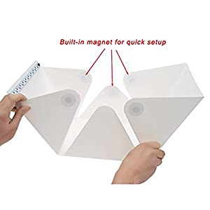 Cofunia Folding Photo Studio Kit Box with LED Light for Photographing Shooting Tent for Small Size Items