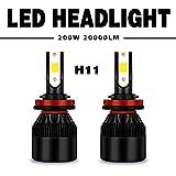Globled 2x H11 H8 H9 H16 200W 20000LM LED Headlights Kit Hi/Low Beam Bulbs 6000K White Power Canbus Driving bulbs (S4-H11)