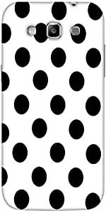 Snoogg White Polka Dot Hard Back Case Cover Shield For Samsung Galaxy Grand Q...