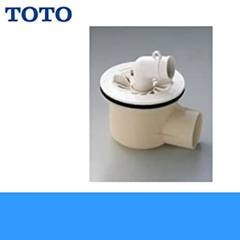 TOTO洗濯機パン用排水トラップPJ2008NW[ABS製横引き]