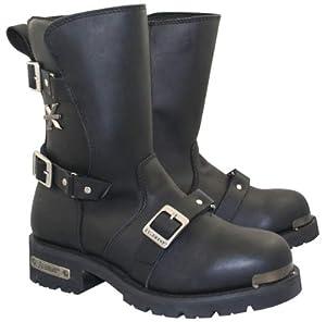 Xelement Mens Black Predator Performance Boots - 10