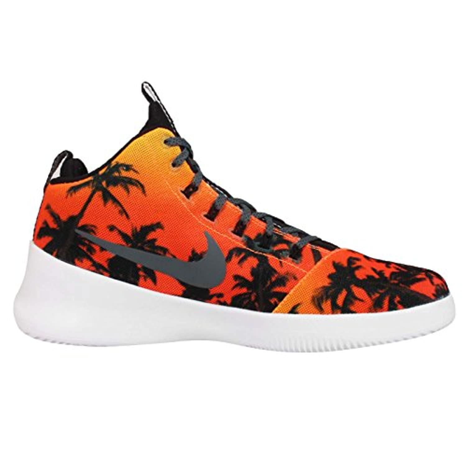 designer fashion c0358 1a0dc ... Nike Mens Hyperfr3sh QS Hyperfresh Laser Orange Dark Grey Fabric Size  11 ...
