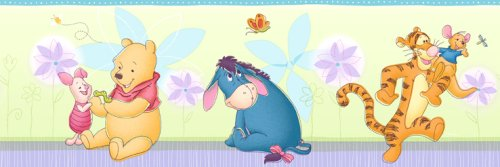 Blue Mountain Wallcoverings DF059241BFP Pleasantly Pooh Prepasted Wall Border
