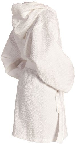 Monogrammed Bathrobes, Childrens Gifts, Cotton Waffle, White front-1067379