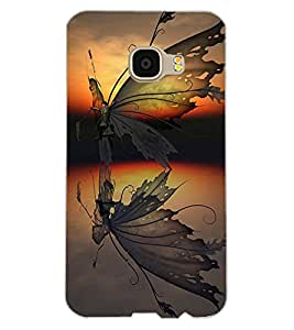 ColourCraft Creative Butterfly Design Back Case Cover for SAMSUNG GALAXY C5