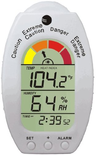 Ambient Weather WS-HE01 Handheld Heat Stress Index, Dew Point Monitor with Temperature, Humidity