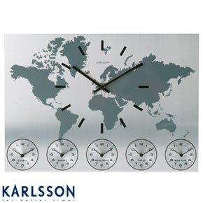 Worldtime Aluminium Clock