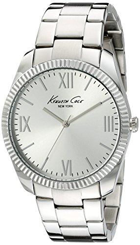 Kenneth Cole & Men's Case-Bracciale in acciaio con quarzo, argento, analogico 10019684-Orologio da donna