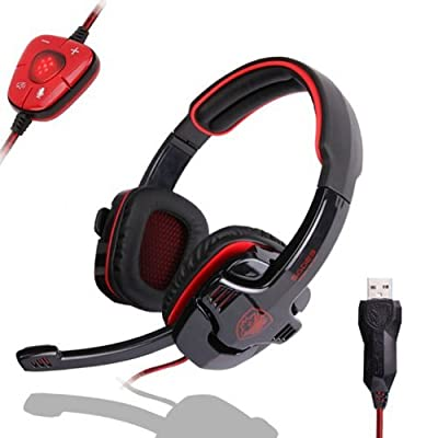 ZPS SADES SA-901 Stereo 7.1 Surround Pro Gaming Headset Headband Headphone Microphone