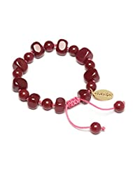 Lola Rose Sury Red Plum Quartzite Bracelet of Length 15-23cm