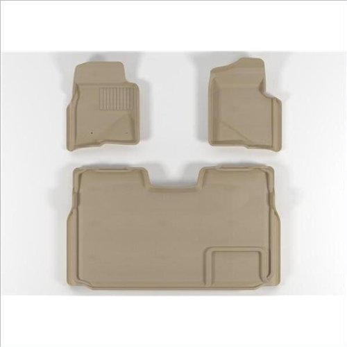 U-Ace L1FR03001502 FORD F150 SuperCrew 2009-2011 Beige KAGU - TPR - Molded Floor Mats