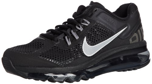 Nike Women's Air Max+ 2013 Color: Black / Sports Grey / Reflect Silver 555363-001 (SIZE: 8)