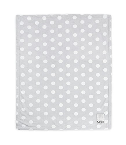 Little Giraffe Silky Dot Blanket, Silver