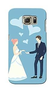 KnapCase Love Couple Designer 3D Printed Case Cover For Samsung Galaxy S6