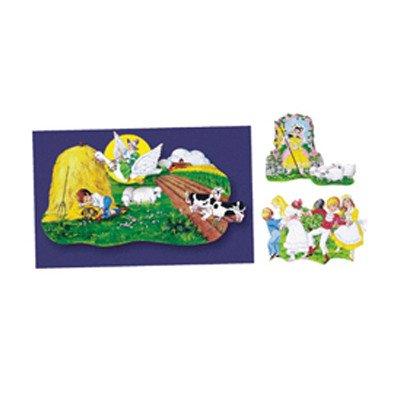 Nursery Rhymes set 3- Felt Figures for Flannel Board 4 stories-Little Boy Blue, Jack Horner, Bo Peep & Mother Goose