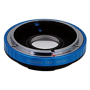 Fotodiox Pro Lens Mount Adapter, for Canon FD, New FD, FL Lens to Canon EOS Camera, for Canon 1D, 1DS, Mark II, III, IV, 1DX, 1DC, 5D, 5D Mark II, II 7D, 40D, 50D, 60D, 70D, Digital Rebel T5i, T4i, T3i, T3, C300, C500