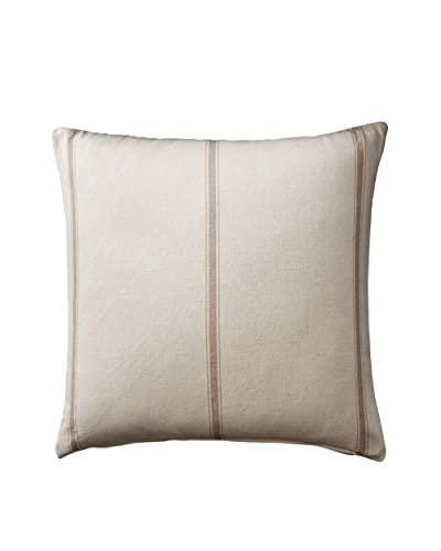French Laundry Natalie Euro Sham, Cream/Khaki