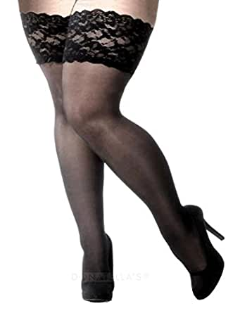 Plus size thigh high pantyhose many