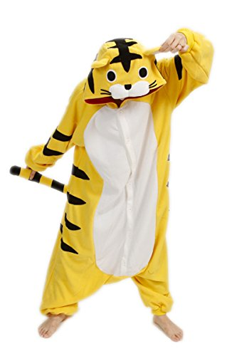 [Belife Christmas Costumes Animal Onesie Sleepsuit Pajamas Cosplay(XL,Tiger)] (Plus Size Tiger Costumes)