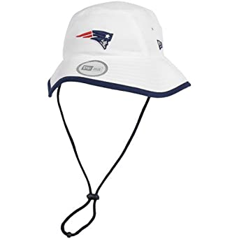 NFL New England Patriots Training Camp Bucket Hat, White, One Size Fits All by New Era