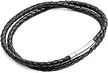 Tribal Steel T698-2blk-19 - Pulsera de acero inoxidable (19 cm)