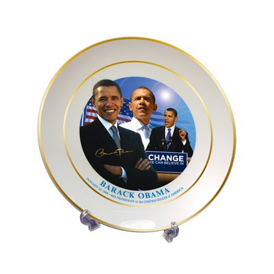 Barack Obama Commemorative Plate with Stand