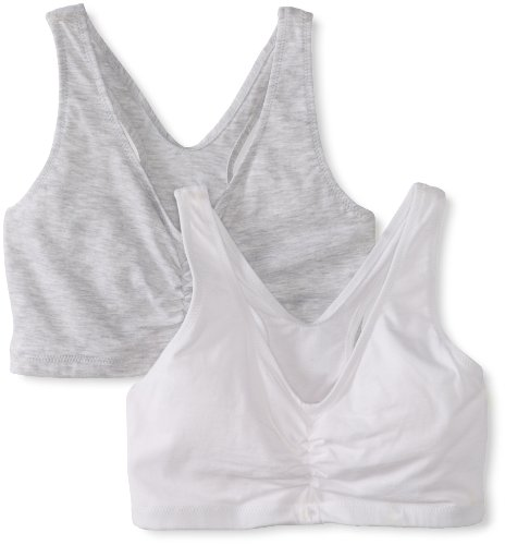 Hanes Women's Stretch Cotton Sport Top 2-Pack S Heather Grey