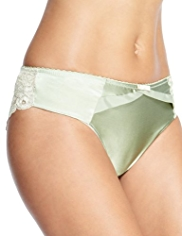 Rosie for Autograph Silk Blend Rose Lace Brazilian Knickers