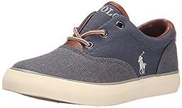 Polo Ralph Lauren Kids Vaughn II EZ Fashion Sneaker (Toddler), Navy Canvas, 9 M US Toddler