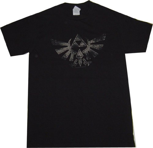The Legend of Zelda Twilight Princess Triforce Symbol Black T Shirt.