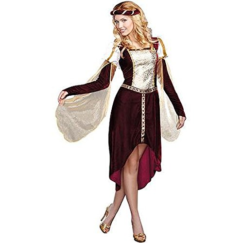 Renaissance My Lady Queen Woman Costume L 12-14 Medieval Princess Dress Halloween