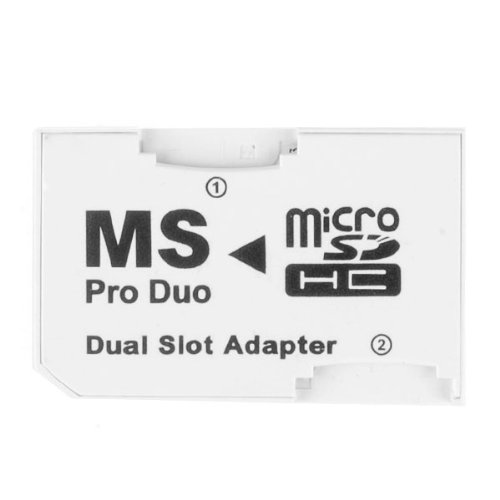 Micro SD TF to MS Pro Duo Memory Stick Adapter 2 Slots