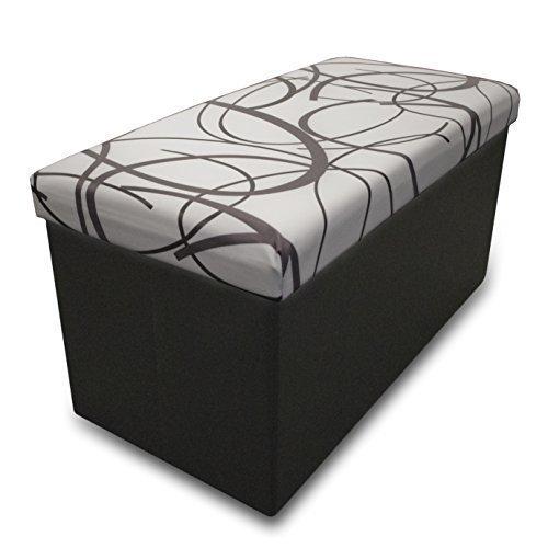 best-price-plus-swirl-design-memory-foam-folding-storage-ottoman-with-faux-leather-30-white