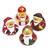 12 Vintage St. Nick Santa Christmas Santa Rubber Ducks