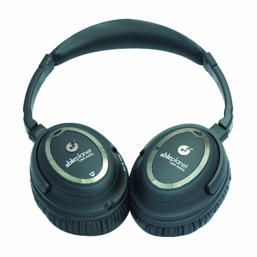 Able Planet Nc1100B Clear Harmony Around The Ear Noise Cancelling Headphone (Black)