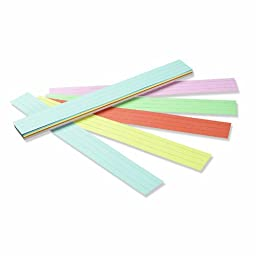 Pacon Sentence Strips, 24 x 3 Inches, Assorted Colors, 100/Pack (PAC5165)