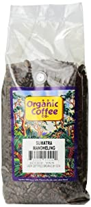 The Organic Coffee Co. Whole Bean, Sumatra Mandheling, 32 Ounce