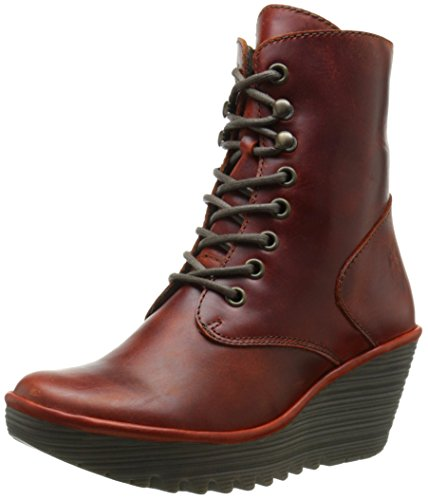 FLY London Women's Ygot Boot, Brick, 39 EU/8-8.5 M US