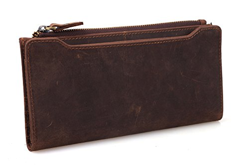 TIDING Rugged Leather Wallet with Card Cash Holder Wild Style 40742